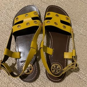 Tory Burch Yellow Gold Sandals